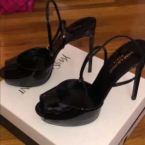 YSL Black patent leather dressy shoes